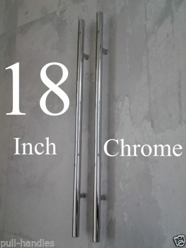 "18 Modern Glass House Exterior Designs: Entry Door Pull Handles 18"" Long Polished Chrome Front"