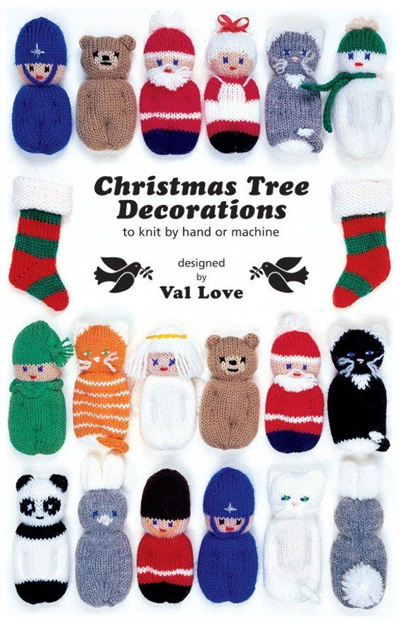 Photo of Christmas Tree Decorations (to knit by hand or machine) Pattern Book