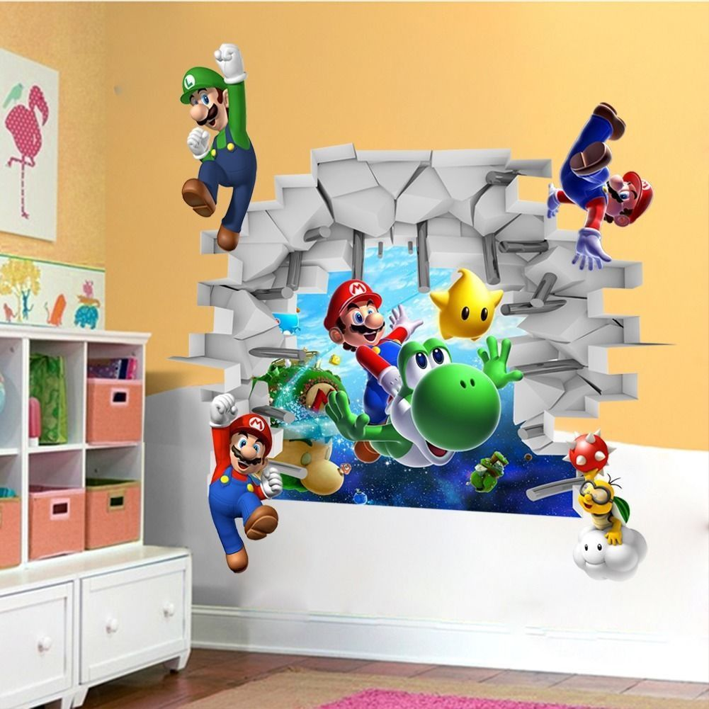 Do you love Super Mario? Get your wall sticker with FREE