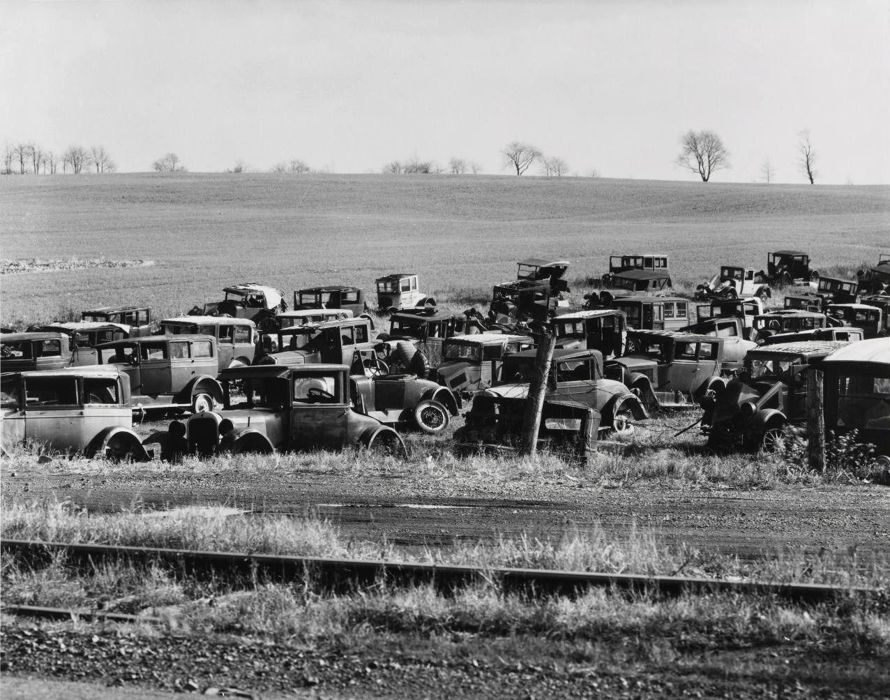 Walker Evans. Auto dump, near Easton, Pennsylvania. 1935
