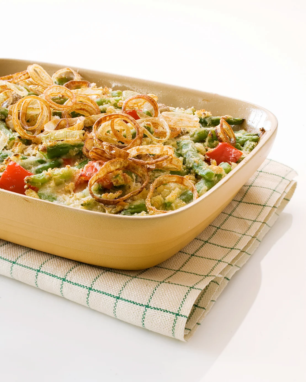 Green-Bean Casserole with Fried Shallots #howtofryonions
