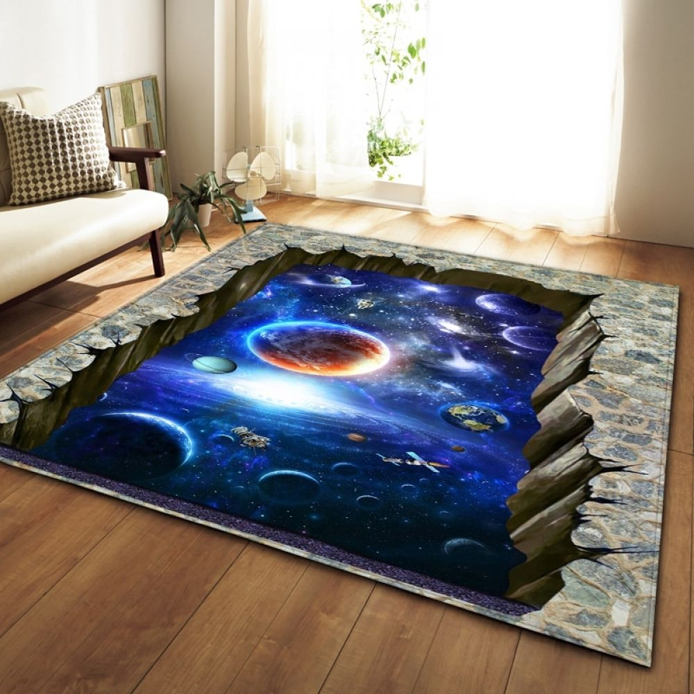 Nordic Carpets Soft Flannel 3d Printed Area Rugs Parlor Galaxy Space Mat Rugs Anti Slip Large Rug Carpet For Living Room Decor Living Room Carpet Rugs On Carpet Area Room Rugs