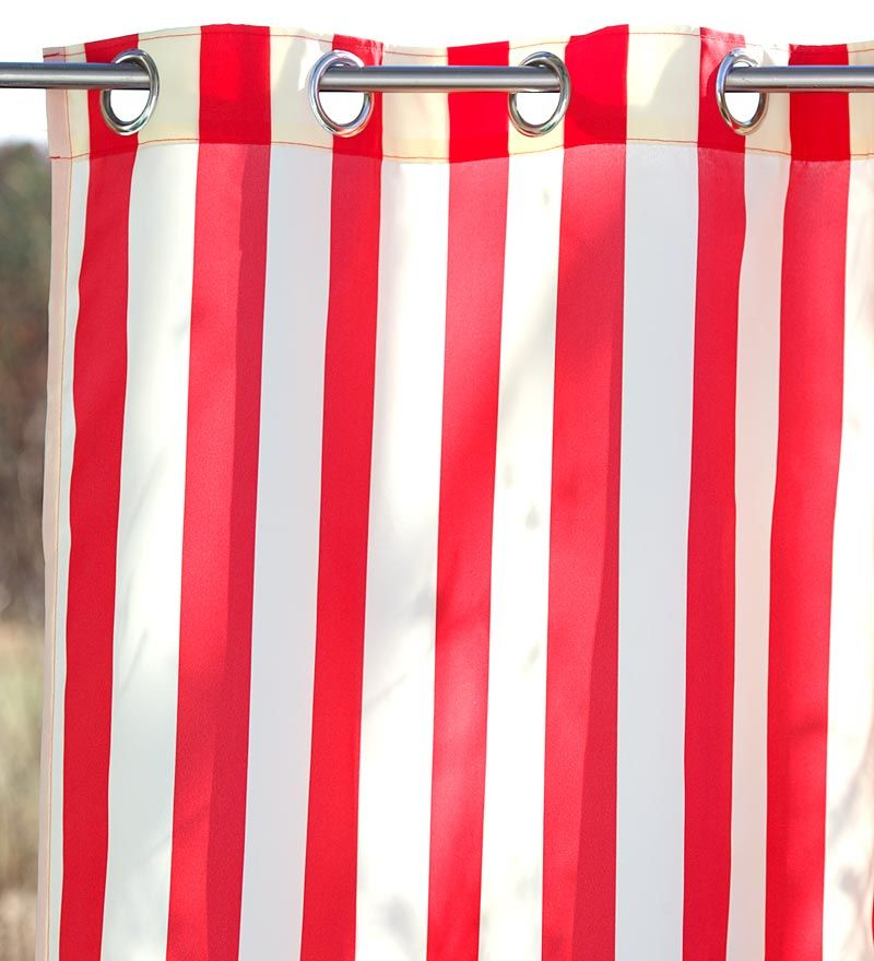 Red Amp White Carnival Stripe Shower Curtain We Love Bright Furnishings At