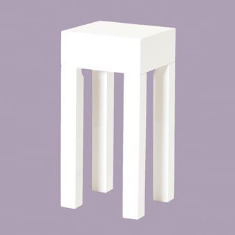 Linea Hi Gloss White Side Tables 51328 70 White Side Tables Square Side Table