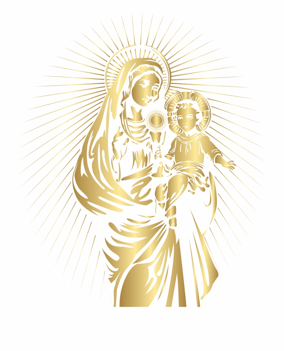 Blessed Virgin Mary And Baby Jesus Png Clip Art Mary And Yesus