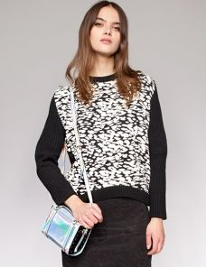 Leopard print chunky ribbed sweater | Fashion | Pinterest ...