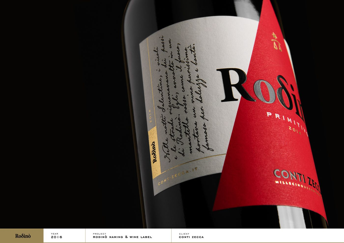 Check Out This Behance Project Rodino Conti Zecca Wine Label Https Www Behance Net Gallery 4639590 Wine Label Wine Label Typography Wine Label Design