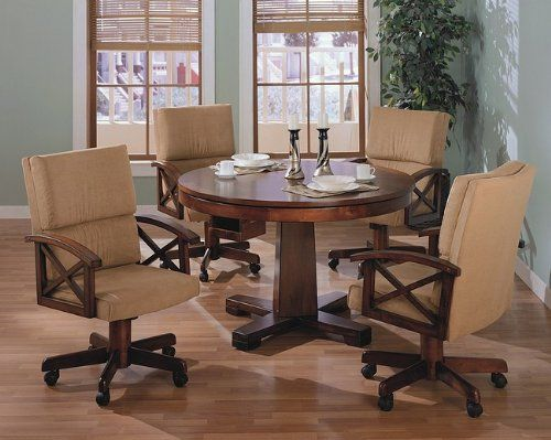 Three-in-One Solid Oak Wood Pool Poker Game Dining Table Chairs set Coaster & Three-in-One Solid Oak Wood Pool Poker Game Dining Table Chairs set ...