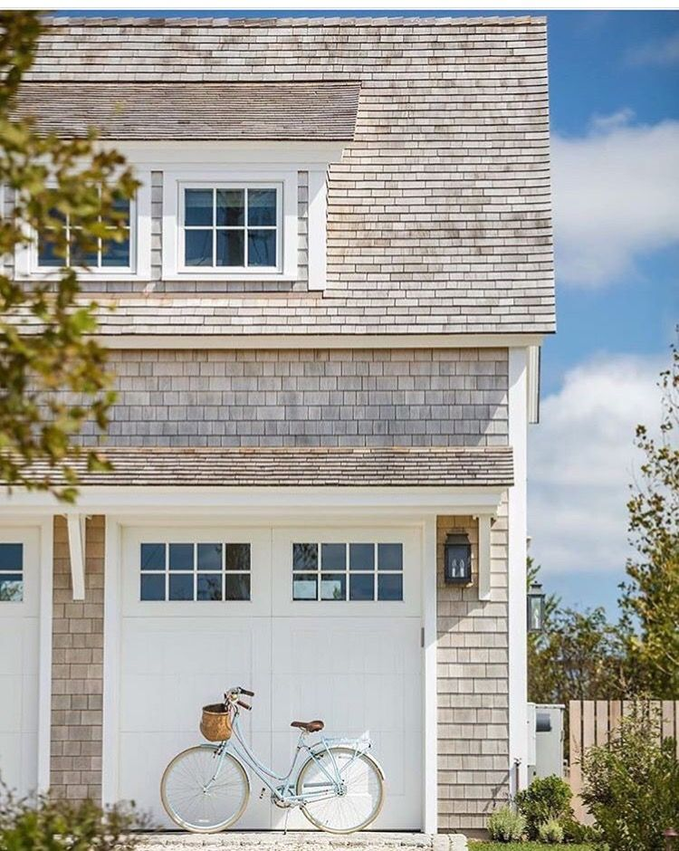 clapboard exterior with white trim | cottage look