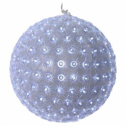 Luce natalizia sfera 25 cm led bianco freddo interno ed for Vendita led online