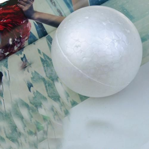 10 Round White 100mm Polystyrene Foam Ball Modelling Sphere Styrofoam Craft