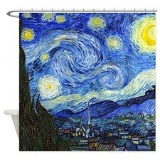 Van Gogh Starry Night Shower Curtain By Designadivagifts