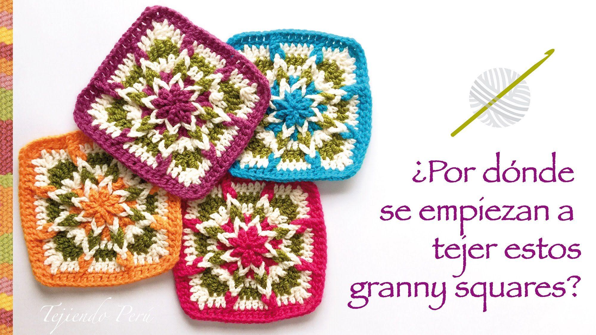 Crochet Por Donde Se Empieza A Tejer Este Cuadrado O Granny Square Trippy Hippy Afghan Pattern Kingdom In