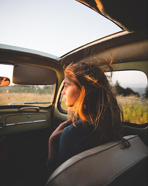 Classic VW - grayskymorning: Samuel Elkins The seat, woman's hair and roof window make a perfect design for the Fibonacci Spiral. I really like this photo.