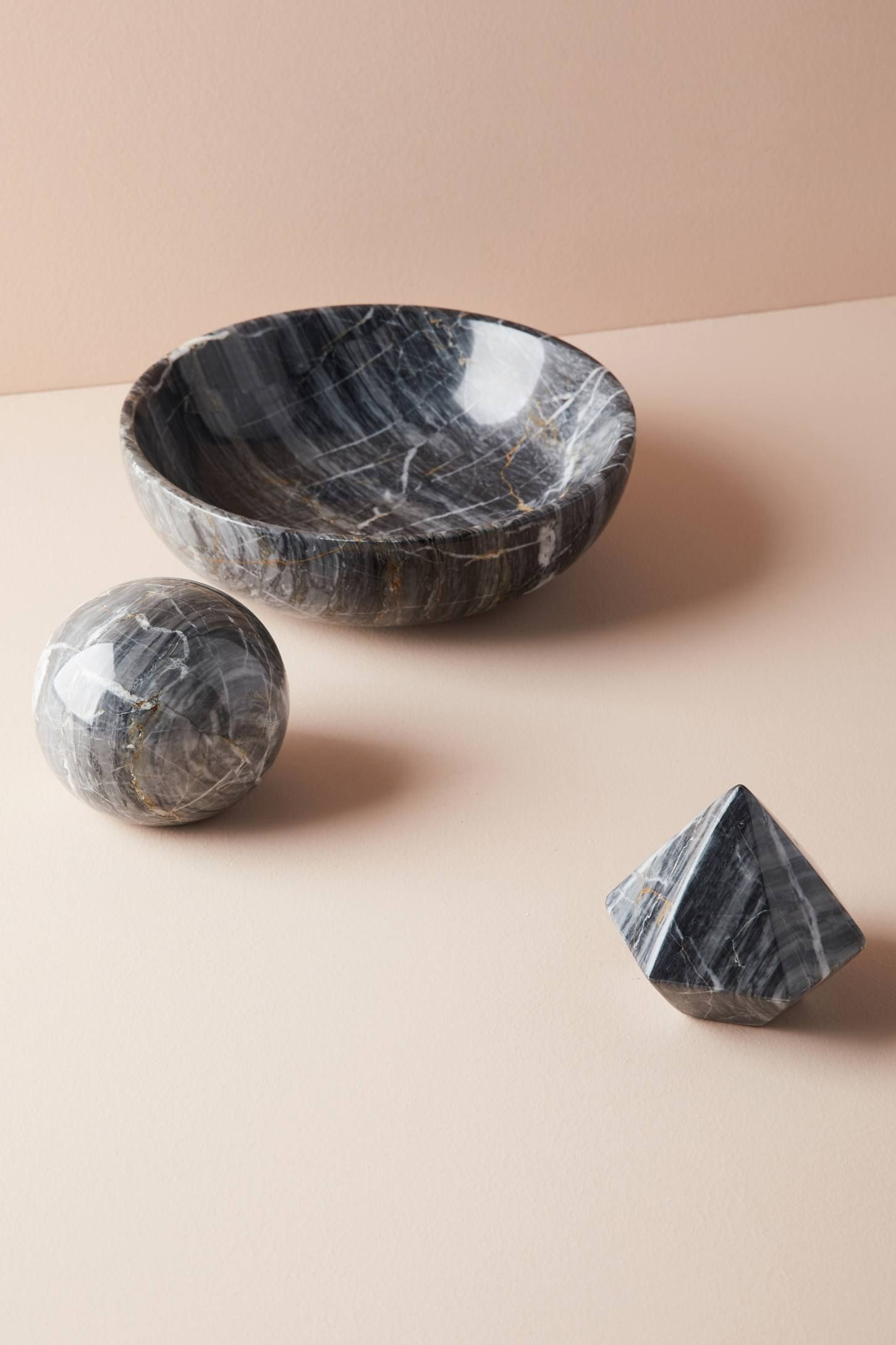 3 Home Decor Trends For Spring Brittany Stager: Black Marble Decorative Object In 2018