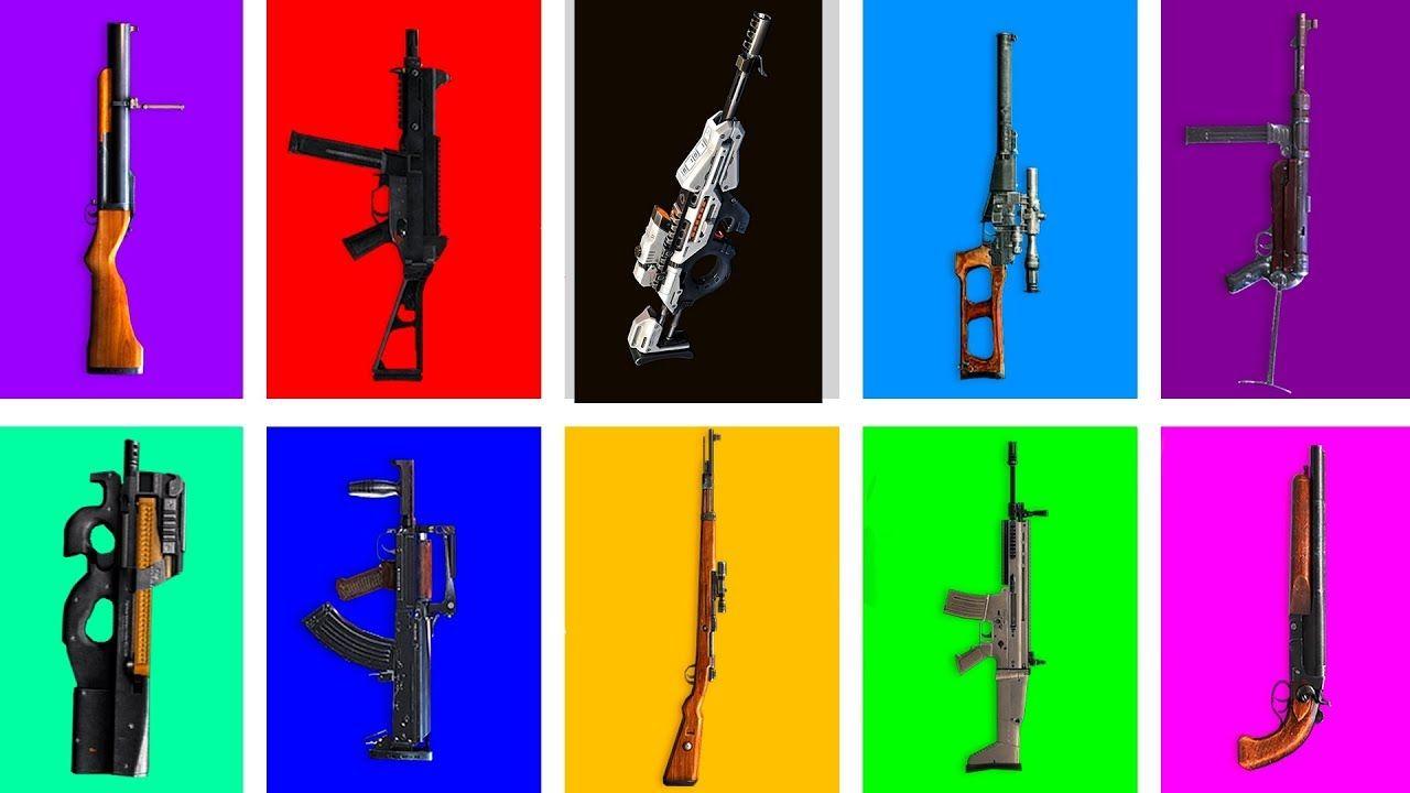 Garena Free Fire Todas Las Armas En La Vida Real Cg15 P90 Scar