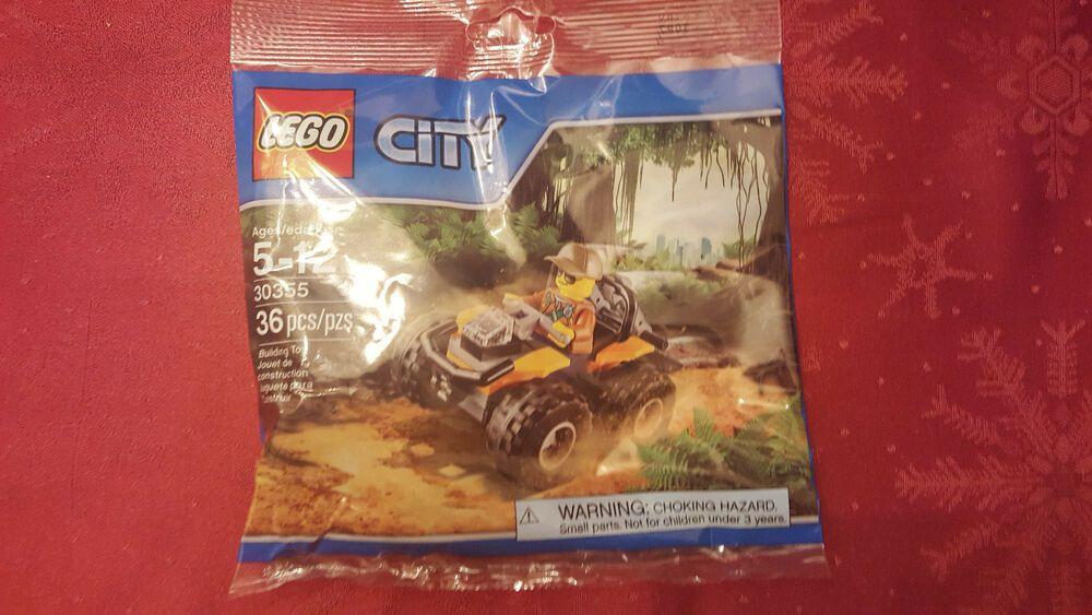 New LEGO City Jungle ATV Polybag Set 30355