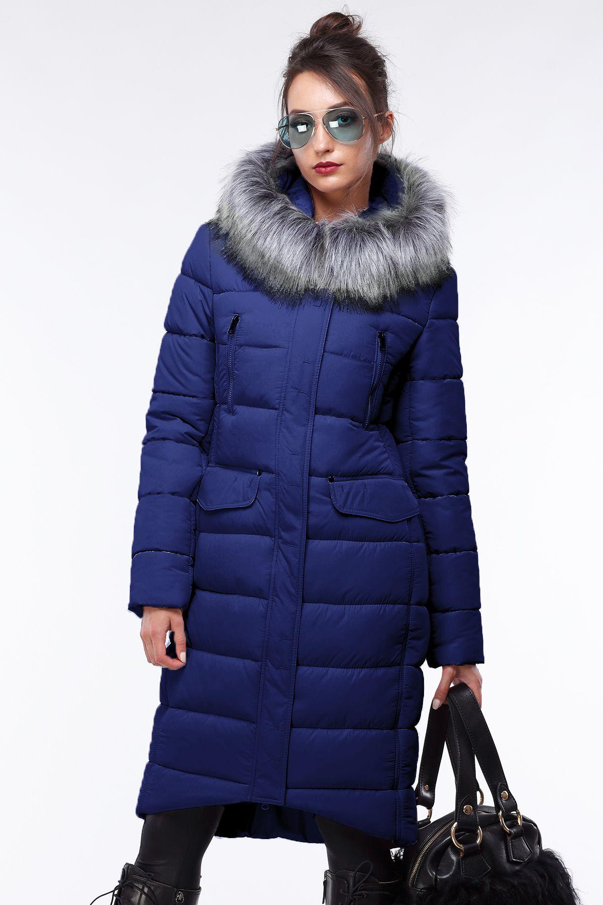 длинное стеганое зимнее пальто пуховик кэт от Nui Very пальто зима