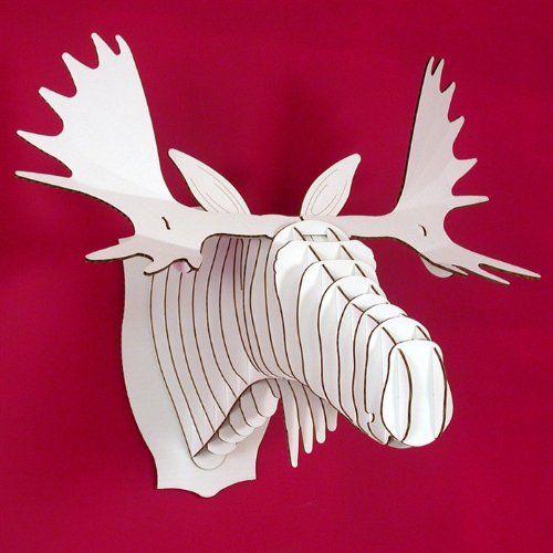 Tierkopf Deko riesiges cardboard safari 3d tierkopf wandbild deko geweih