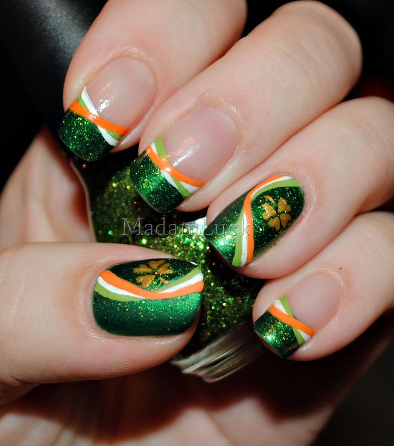 Top 10 Lucky Shamrock Nail Art Tutorial For St. Patrick\'s Day ...