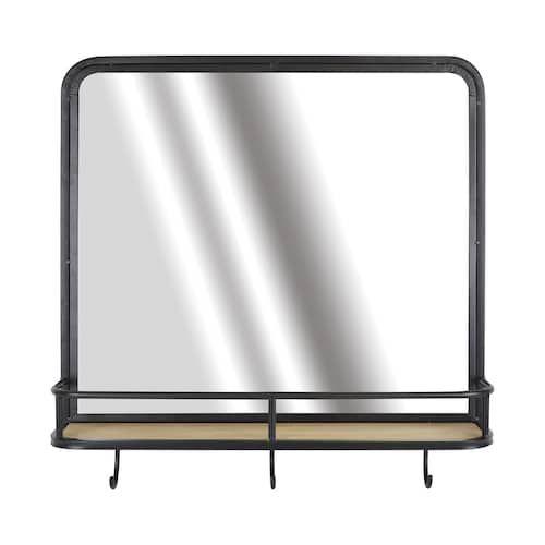 Belle Maison 3 Hook Mirror Shelf Wall Decor Mirror With Shelf Wall Shelves Mirror