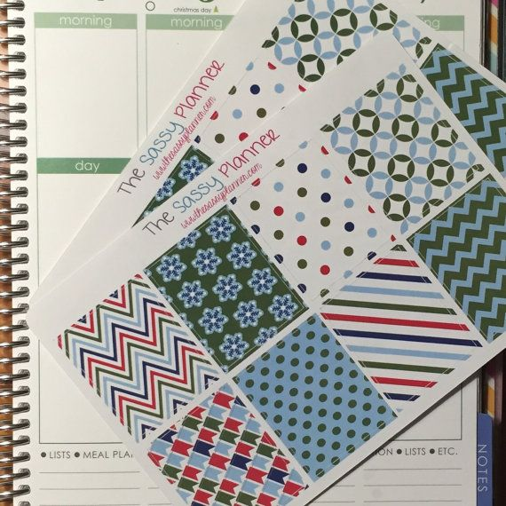 December Monthly Full Box Stickers for Erin by TheSassyPlanner