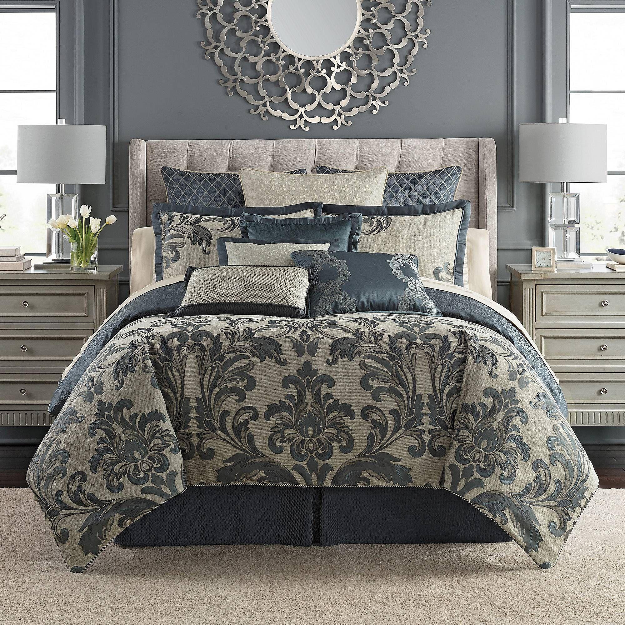 Waterford Everett Reversible Comforter Set Bed Bath Beyond Comforter Sets Master Bedroom Comforter Sets Luxury Bedding Sets