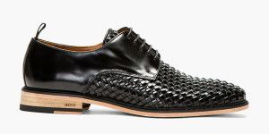 Basket Woven Derby Shoe by AMI Paris   Photo