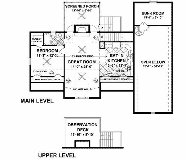 Rv Garage With Living Quarters: Plan 20083GA: RV Garage With Observation Deck