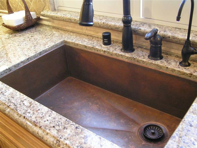 undermount copper sink is is a must in the new house