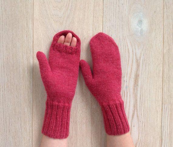 €30.00 Hand-knitted mittens / Warm winter mittens / Arm warmers / Warm mittens / 100% pure virgin wool