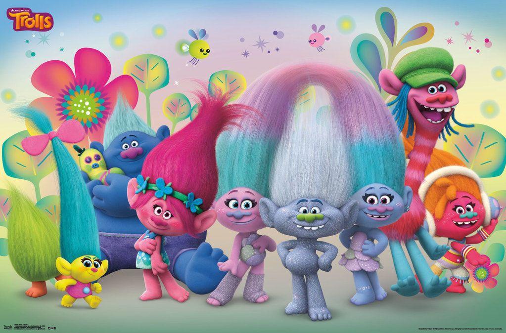 Trolls Wall Decor Clip Art Galore Trolls On Com Buy Trolls Animated Movie Poster Fr