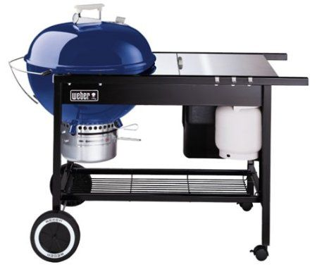Weber 825020 22 Performer Charcoal Grill With Propane Ignition Light Blue Discontinued By Manufacturer