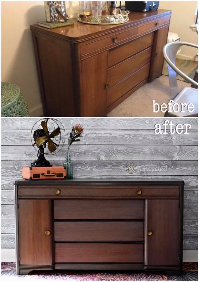 Mid Centure Modern Vintage Buffet Makeover! Http://funcycled.com/
