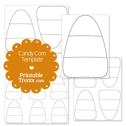 Printable Candy Corn Template From Printabletreats Com Halloween