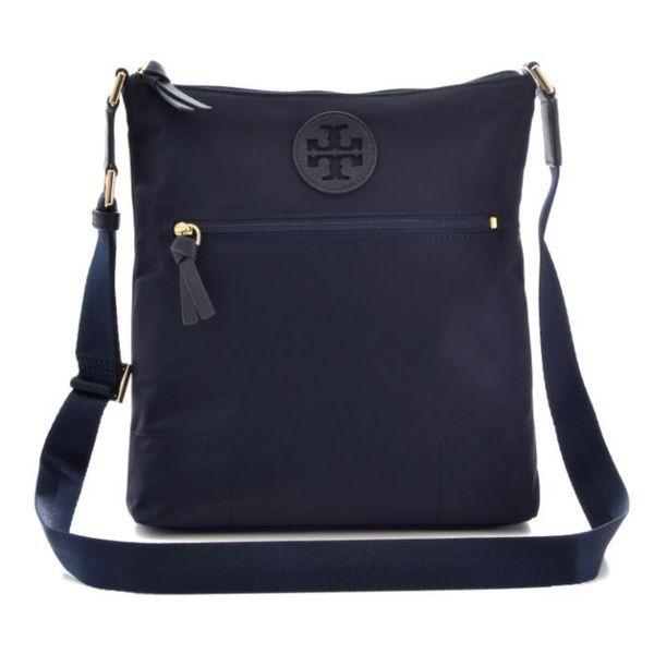 20b067adb Tory Burch Ella' Navy Nylon Swingpack Crossbody Handbag | Nylon ...
