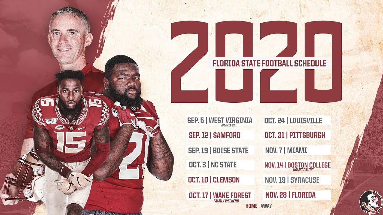 Fsu College Football 2020 In 2020 Florida State Football College Football Schedule Fsu Seminoles Football