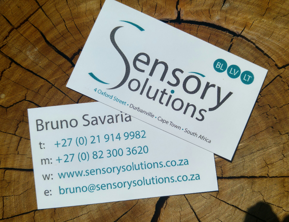 Business card design for sensory solutions business cards business card design for sensory solutions reheart Choice Image