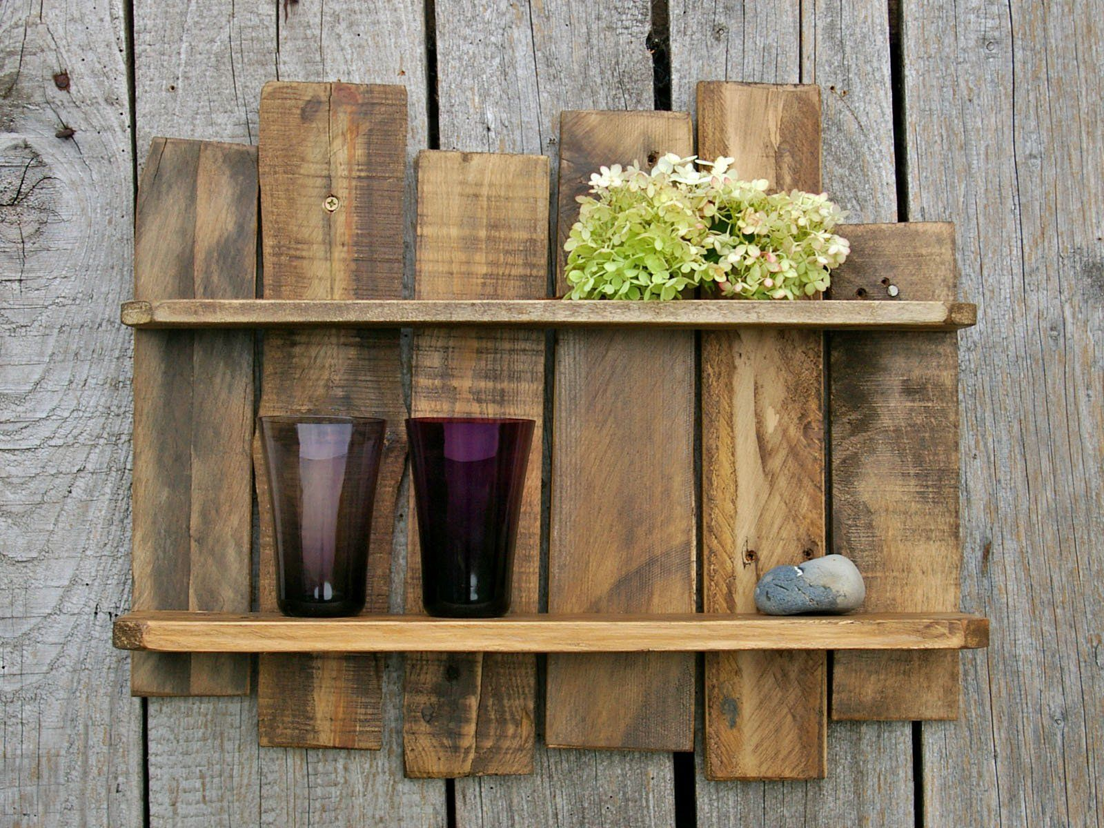 Kleine Holzregale Shelf Made Of Pallet Timber Palettenholzregal Wooden Shelf Waxed