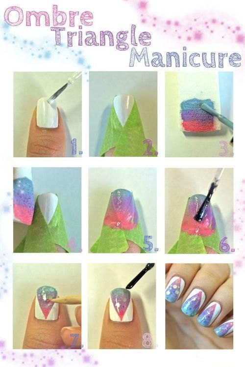 Ombre Triangle Manicure: Tutorial Feature on Nail It! Magazine ...