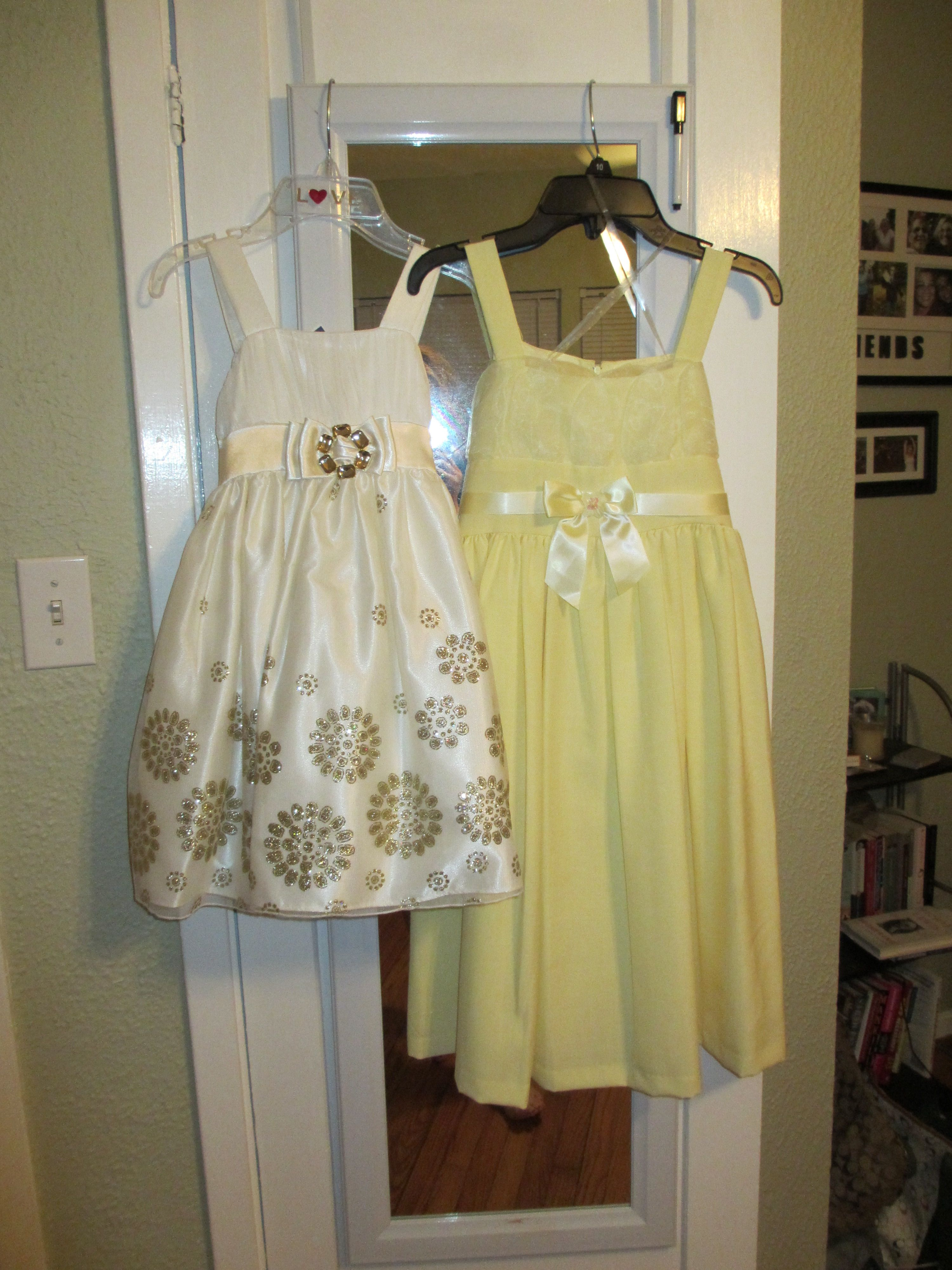 912e0b8df7cc Flower Girl Dresses. From Marshalls (left) and JC Penny (right). Each for  only $25. It was so fun to shop :)