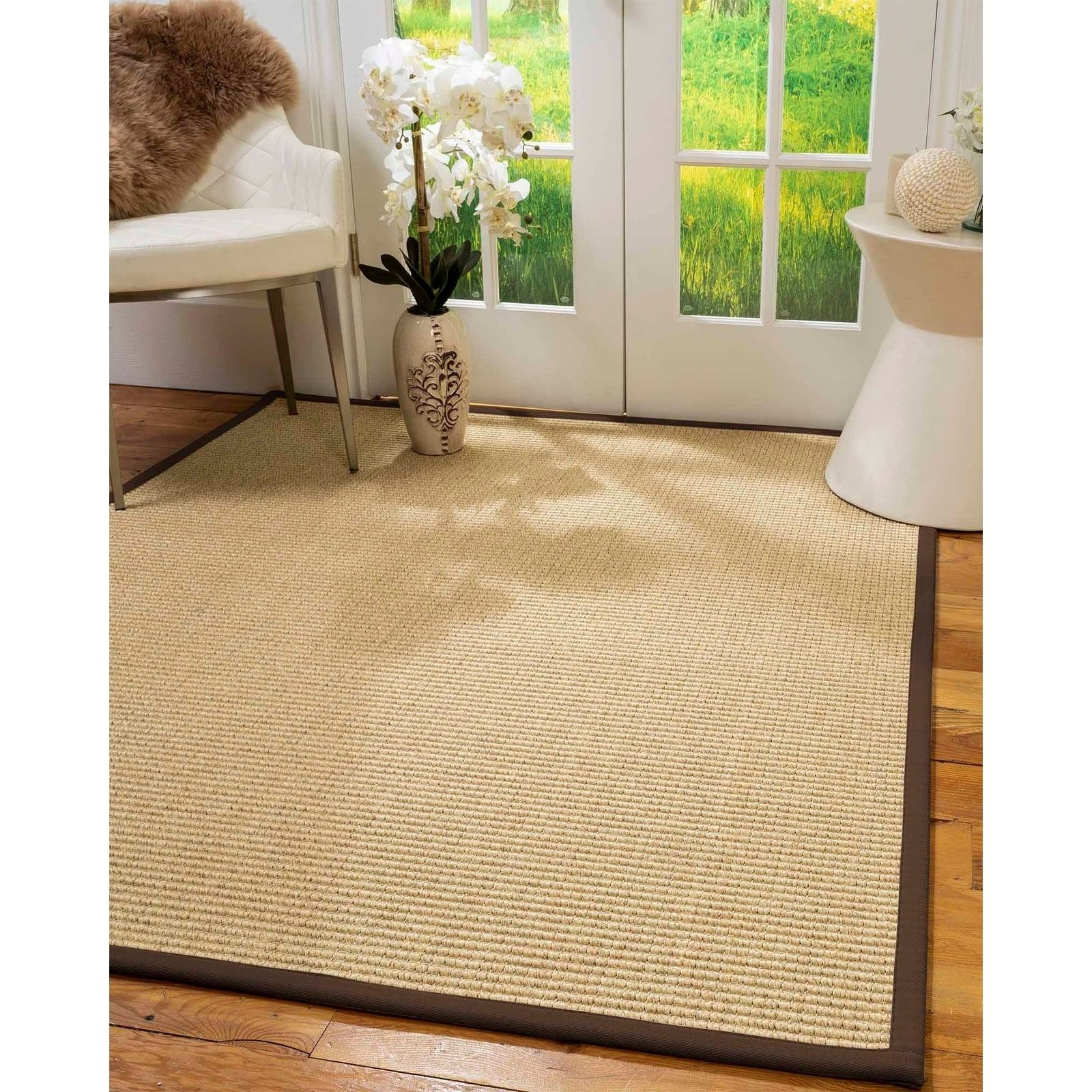 Natural Area Rugs 100 Natural Fiber Handmade Lucca 10 Octagon Beige Sisal Rug Fudge Border 10 X 10 Octagon Natural Area Rugs Area Rugs Beige Area Rugs