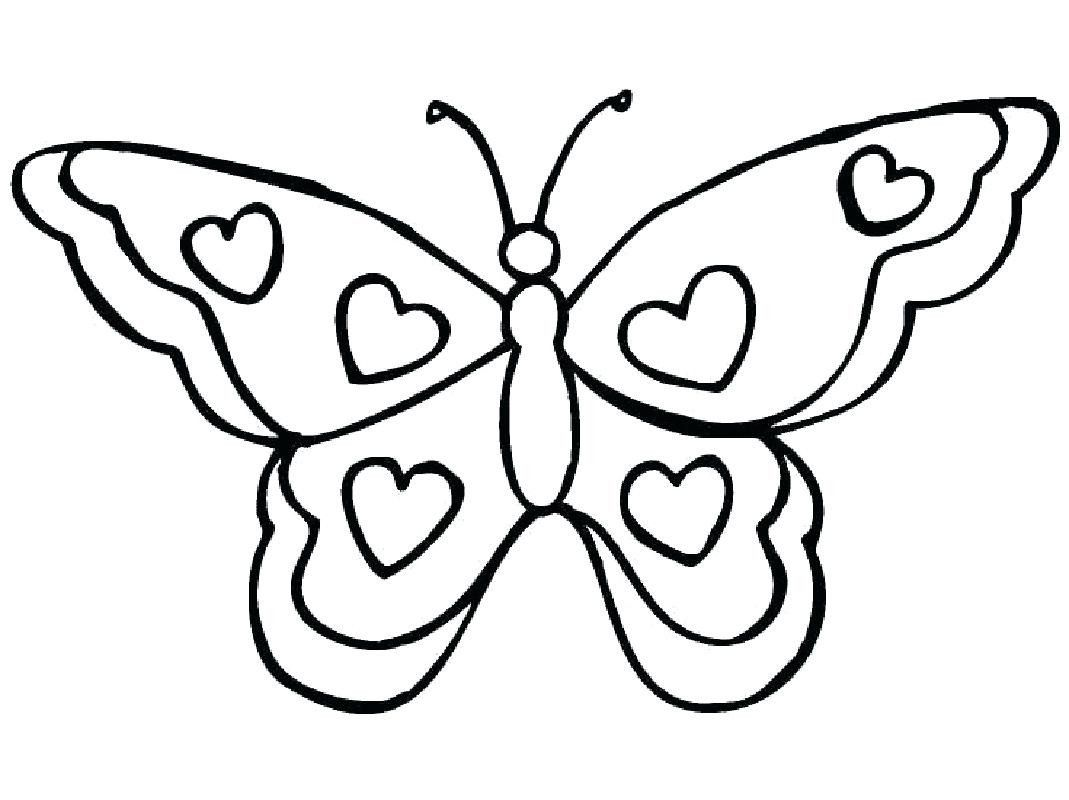 Butterfly Coloring Pages For Adults Beautiful Easy Butterfly Template Cortexcolor Butterfly Coloring Page Butterfly Printable Heart Coloring Pages [ 800 x 1069 Pixel ]
