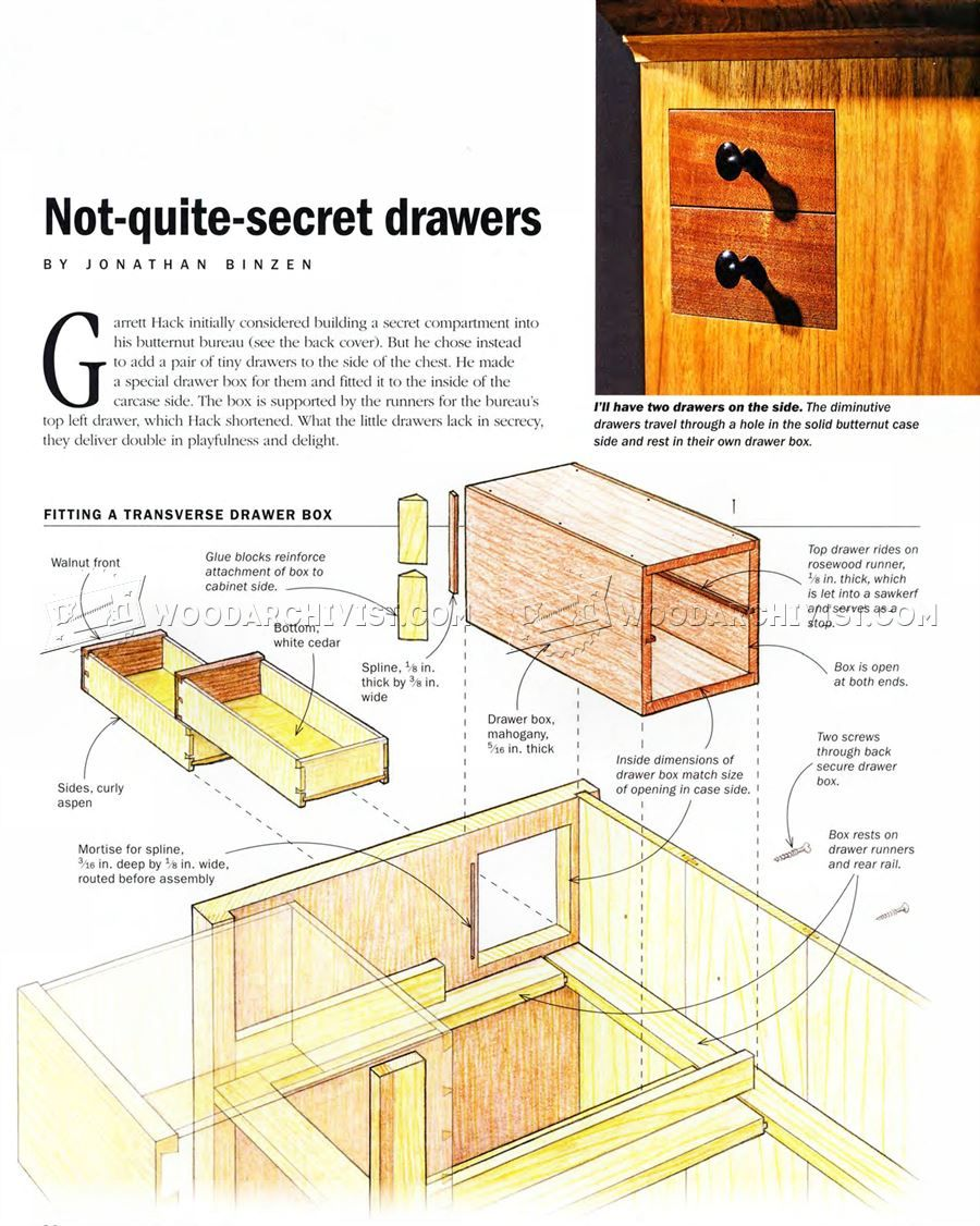 Secret Drawer Hidden Compartment Furniture Carpentry Projects Woodworking Projects Plans Woodworking Organization