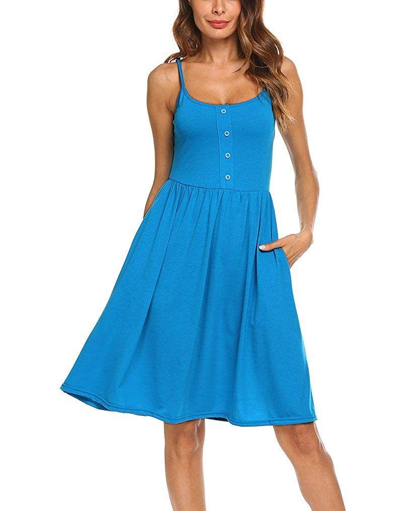 Naggoo Womens Strappy Sleeveless Dresses Dresses Summer Dresses Elegant Dresses [ 1014 x 780 Pixel ]