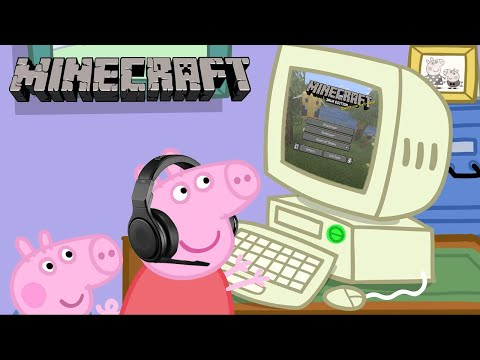 11 Peppa Pig Plays Minecraft Youtube How To Play Minecraft Peppa Pig Pig Memes