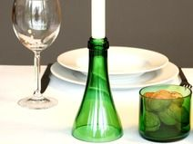 Kerzenständer aus recycelter weinflasche gläser glasflaschen