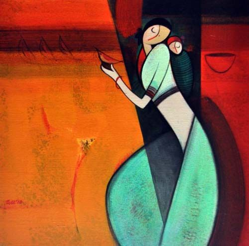 Abstract Paintings Of Indian Artists