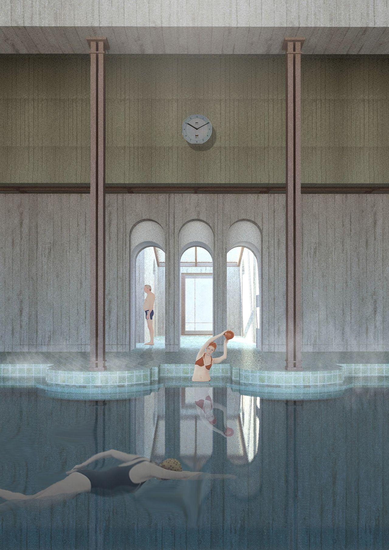 Frigidarium Lost Mariner swimming pool by Deimante Bazyte The Royal