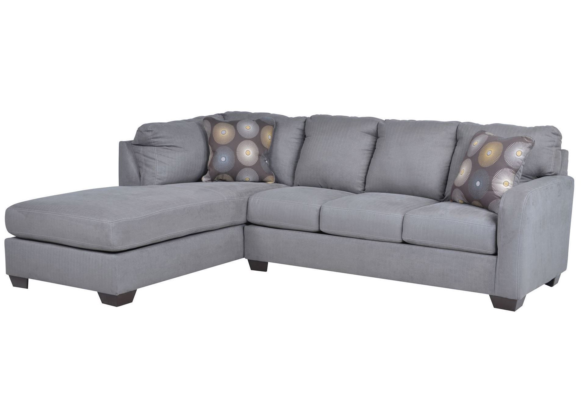 Zella Charcoal 2 Piece Sectional W Laf Chaise Signature